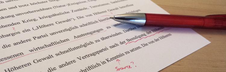 Proofreading, Korrektulesen, Korrektur, Revision